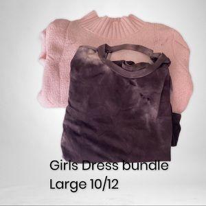 Girls bundled